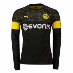 2018-2019 borussia dortmund away long sleeve soccer jerse