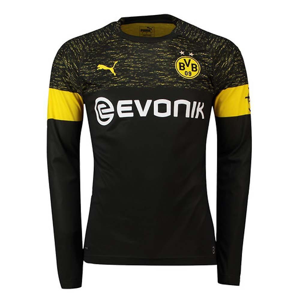 Borussia Dortmund Kit 2019 Borussia Dortmund Kit Away 2018 2019 Borussia Dortmund Away Long Sleeve Soccer Jersey