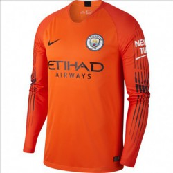 2018-2019 manchester city orange goalkeeper long sleeve soccer jerse