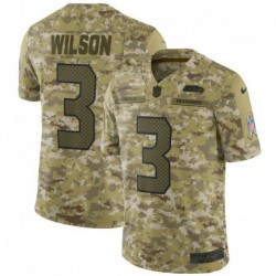 Men NFL Seattle Seahawks WILSON Camouflage Jerse