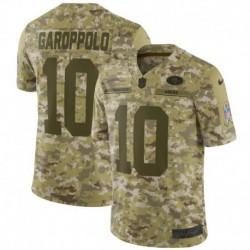Men NFL San Francisco 49ers Garoppolo Camouflage Jerse
