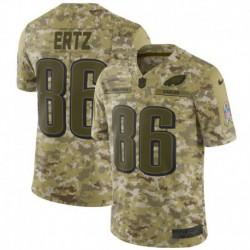 Men NFL Philadelphia Eagles Ertz Camouflage Jerse