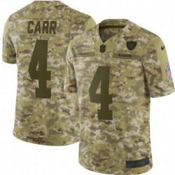 Men NFL Oakland Raiders Carr Camouflage Jerse
