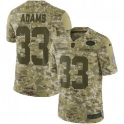 Men NFL New York Jets Adidas Ams Camouflage Jerse
