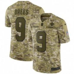 Men NFL New Orleans Saints Brees Camouflage Jerse
