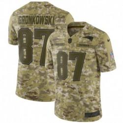 Men NFL New England GRONKOWSKI Camouflage Jerse