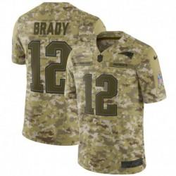 Men NFL New England Brady Camouflage Jerse