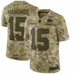 Men NFL Kansas City Chiefs Mahomes Camouflage Jerse