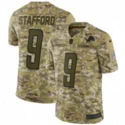 Men NFL Detroit Lions Stafford Camouflage Jerse