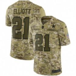 Men NFL Dallas Cowboys ELLIOTT Camouflage Jerse
