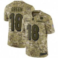 Men NFL Cincinnati Bengals Green Camouflage Jerse