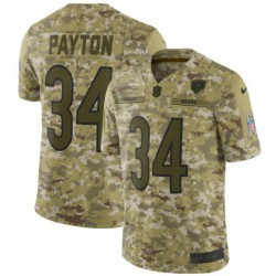 Men NFL Chicago Bears Payton Camouflage Jerse