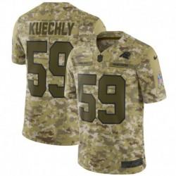 Men NFL Carolina Panthers Kuechly Camouflage Jerse