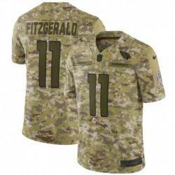 Men NFL Arizona Cardinals FITZGERALD Camouflage Jerse