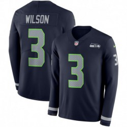 Men NFL Seattle Seahawks WILSON Long Sleeve Jerse