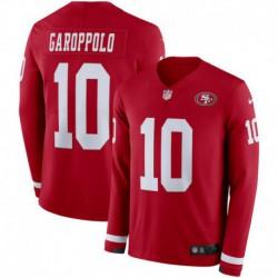 Men NFL San Francisco 49ers Garoppolo Long Sleeve Jerse