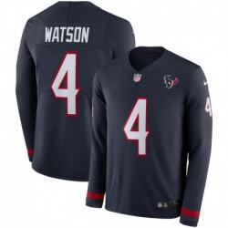 Men NFL Houston Texans Watson Long Sleeve Jerse