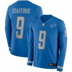 Men NFL Detroit Lions Stafford Long Sleeve Jerse