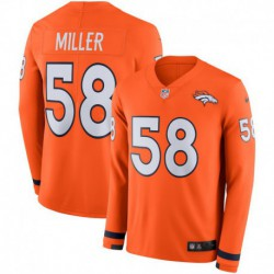 Men NFL Denver Broncos MILLER Long Sleeve Jerse