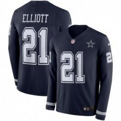 Men NFL Dallas Cowboys ELLIOTT Long Sleeve Jerse