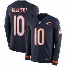 Men NFL Chicago Bears TRUBISKY Long Sleeve Jerse