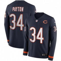 Men NFL Chicago Bears Payton Long Sleeve Jerse