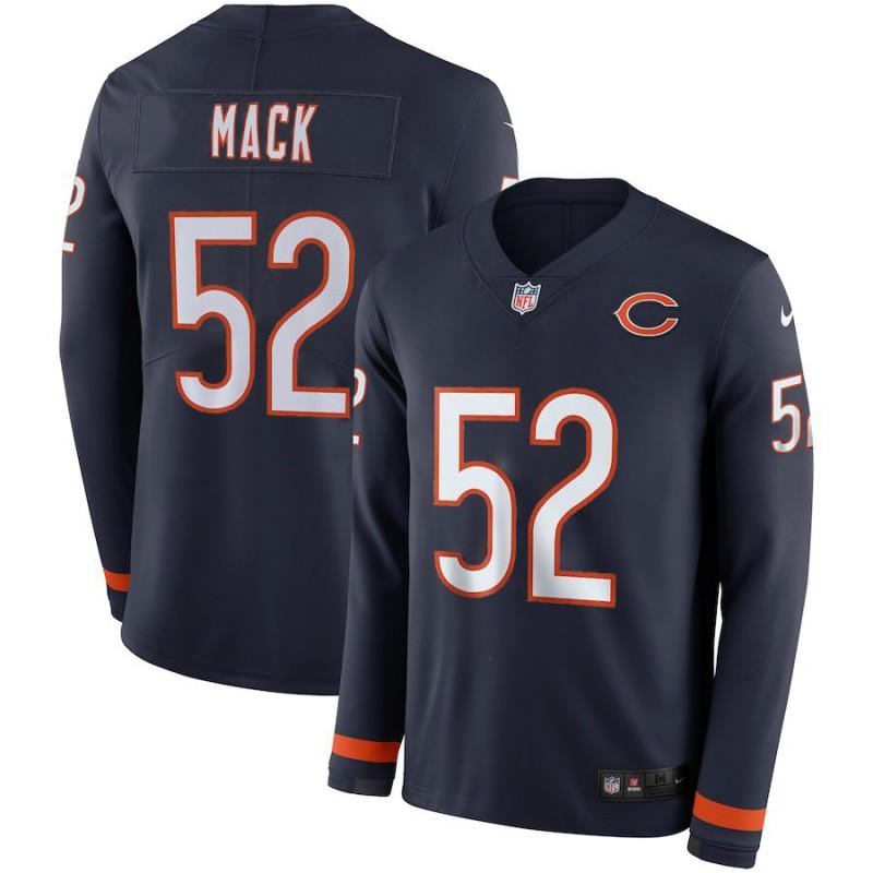 Cheap NFL Bears Jerseys,NFL Bears Jersey Youth,Men NFL Chicago Bears MACK Long Sleeve Jersey