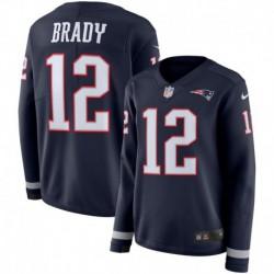 Women NFL New England Brady Long Sleeve Jerse