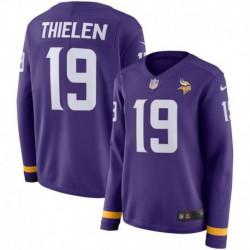 Women NFL Minnesota Vikings THIELEN Long Sleeve Jerse
