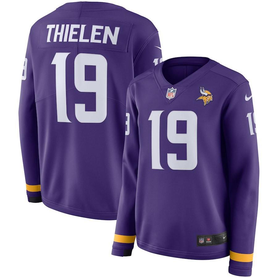 Cheap Discount NFL Jerseys,Cheap NFL Jerseys Discount,Women NFL Minnesota Vikings THIELEN Long Sleeve Jersey
