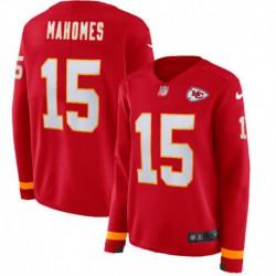 Women NFL Kansas City Chiefs Mahomes Long Sleeve Jerse