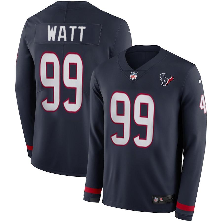 NFL Jj Watt Jersey,Where To Buy Cheap NFL Jerseys,Women NFL Houston Texans WATT Long Sleeve Jersey