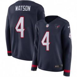 Women NFL Houston Texans Watson Long Sleeve Jerse