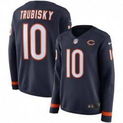 Women NFL Chicago Bears TRUBISKY Long Sleeve Jerse