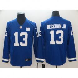 Men NFL New York Giants Beckham Jr Long Sleeve Jerse