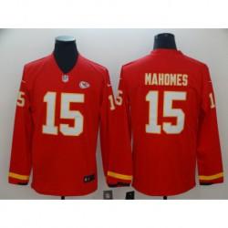 Men NFL Kansas City Chiefs Mahomes Long Sleeve Jerse