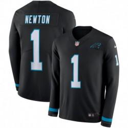 Men NFL Carolina Panthers Newton Long Sleeve Jerse