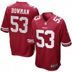 Navorro bowman san francisco 49ers nike game jerse