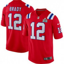 Youth Tom Brady New England Patriots Nike Super Bowl LII Bound Game Jerse