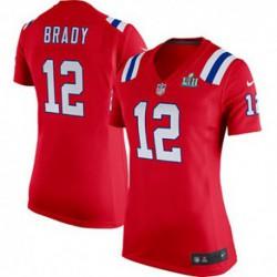 Women's Tom Brady New England Patriots Nike Super Bowl LII Bound Game Jerse