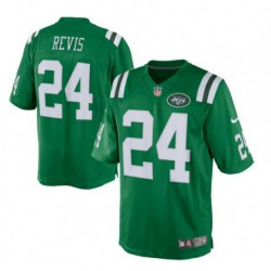 Darrelle revis new york jetscolor rush limited jersey - green/Dark green/Whit