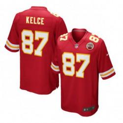 Travis kelce kansas city chiefsteam game jersey - red/Whit