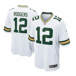 Joe aaron rodgers green bay packersgame jersey - white/Gree