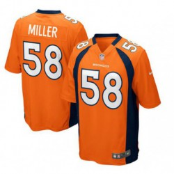 Joe Von Miller Denver Broncosalternate Game Jersey Navy Blue/Orang