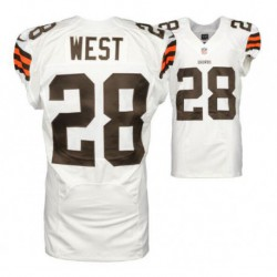 Joe terrance west clevelandgame jersey - brown/Whit