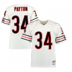 Joe walter payton chicago bears mitchell & ness 1985 authentic throwback jersey navy blue/Whit