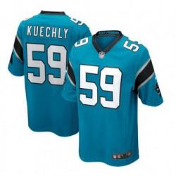Luke kuechly carolina panthers joe team game jersey - black/Blu