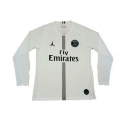 2018-2019 paris jordan ucl white long sleeve soccer jerse