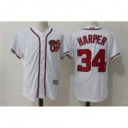 Bryce harper washington nationals majestic cool base player jerse