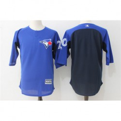 Josh donaldson toronto blue jays majestic authentic collection on-field 3/4-sleeve player batting practice jerse